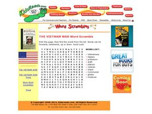 The Vietnam War Word Scramble Lesson Plan