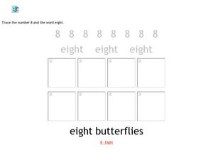 Eight Butterflies Worksheet