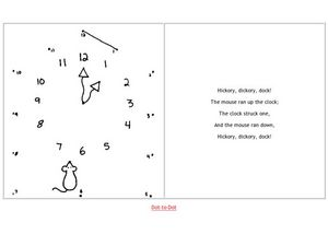 Hickory, Dickory Dock! Dot to Dot Worksheet