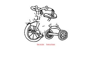 Dot to Dot Tricycle Worksheet