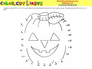 Jack O Lantern Dot to Dot Activity Worksheet