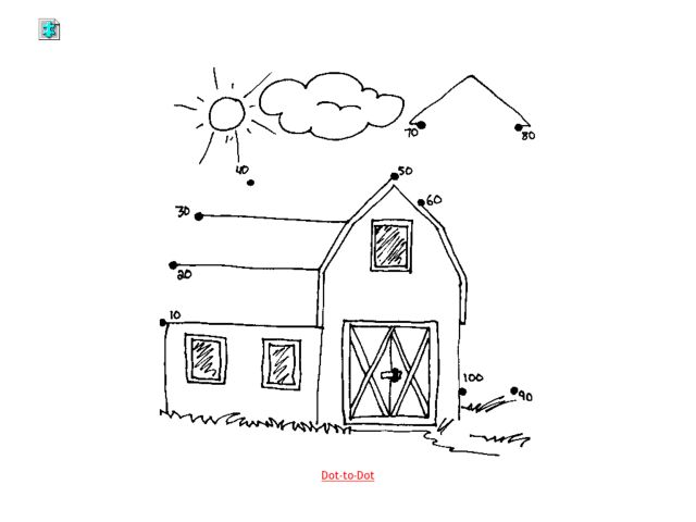 barn dot to dot skip counting by 10 worksheet for 1st grade lesson planet. Black Bedroom Furniture Sets. Home Design Ideas