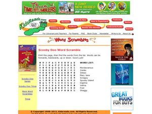Scooby Doo Word Scramble Lesson Plan
