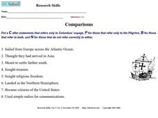 Comparisons Worksheet