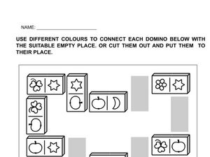 Domino Picture Patterns Worksheet
