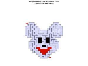 Christmas Maze: Mouse Worksheet