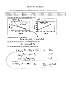 Kinetics Practice 2-Key Worksheet