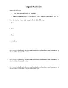 Organic Compounds Lesson Plans & Worksheets | Lesson Planet