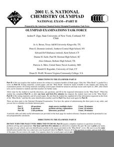 2001 U.S. National Chemistry Olympiad National Exam Part II Assessment
