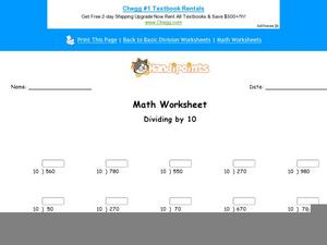 Basic Division Part 5 Worksheet