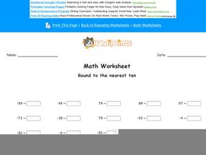 Round to Nearest Ten Worksheet