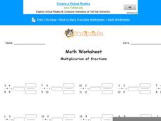 Multiplication of Fractions: Part 9 Worksheet