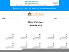 Multiplying by 12: Part 2 Worksheet