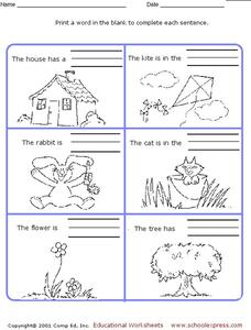 Complete the Sentences Worksheet