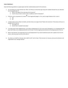 Vector Worksheet I Worksheet