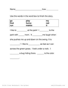 Complete the Story Worksheet for 1st - 2nd Grade   Lesson Planet