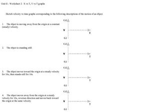X vs. T graphs Worksheet