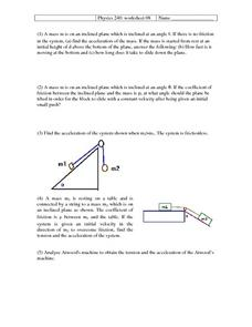Physics 240:8 Worksheet