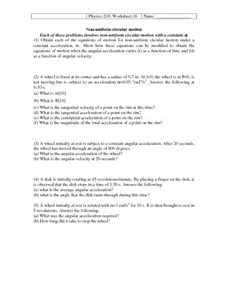 Worksheets Rotational Motion Worksheet of equations motion worksheet sharebrowse collection sharebrowse