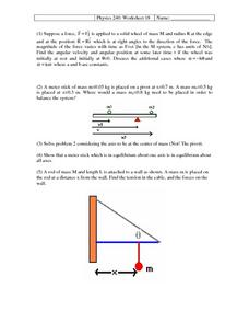 Physics 240:18 Worksheet