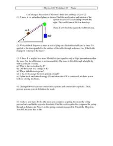Physics 240: Newton's Third Law Worksheet