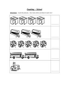 Counting - School Worksheet