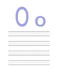 Preparing Your Child For Preschool: The Letter O Worksheet