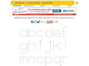 Tracing Letters: Lower Case Alphabet Worksheet