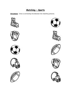 Matching - Sports Worksheet