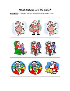 Which Pictures are the Same? Part 1 Worksheet