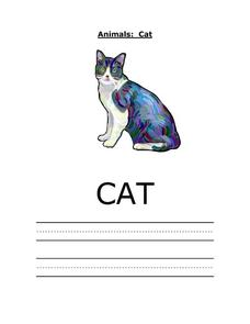 Printing Practice: Cat Worksheet