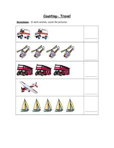 Counting: Travel 2 Worksheet