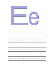 Preparing Your Child for Preschool: The Letter Ee Worksheet