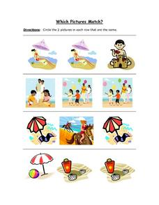 Which Pictures Are The Same? Worksheet 5 Worksheet
