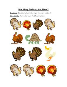 How Many Turkeys Are There? Worksheet