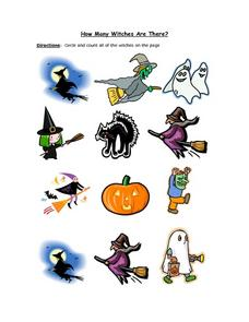 How Many Witches Are There? Worksheet