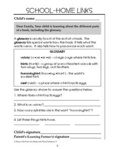 The Glossary Worksheet