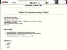 """Asking for Tourist Information"" (Italian) Lesson Plan"