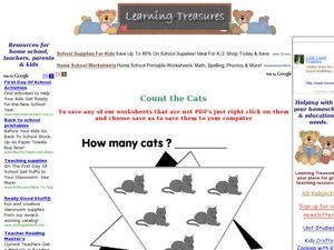 How Many Cat? Count the Cats Worksheet