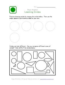 Learning About Circles Worksheet