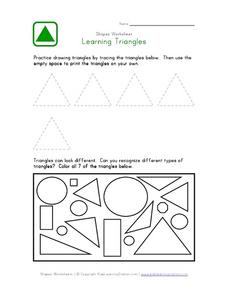 Learning Triangles Worksheet