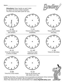 Clock Reading Worksheet