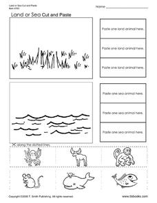 Land or Sea Worksheet