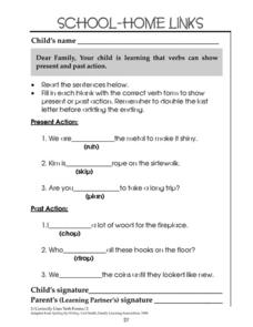 School-Home Links: Correct Verb Usage Worksheet