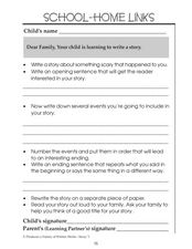 Learning to Write a Story Worksheet