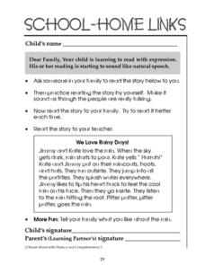School-Home Links: Reading with Expression Worksheet