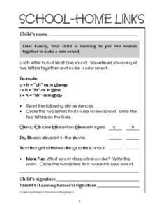 School-Home Links: Sound Combining Worksheet