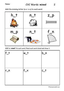 CVC Words: Mixed Worksheet