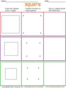 Identifying Squares Worksheet