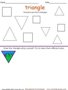 Coloring Triangle Worksheet